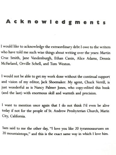 book acknowledgments